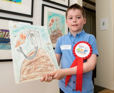 17/06/17 - 17061703 - Progress SC Tesco Bank Art Competition Prize Giving at the Scottish National Gallery of Modern Art in Edinburgh Pictured is Alfie Smith