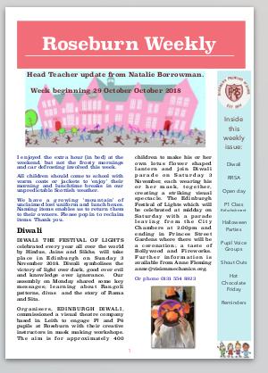 Roseburn Weekly29.10