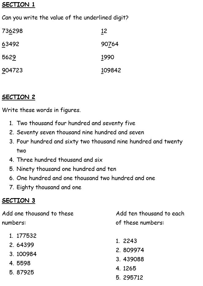 place value maths