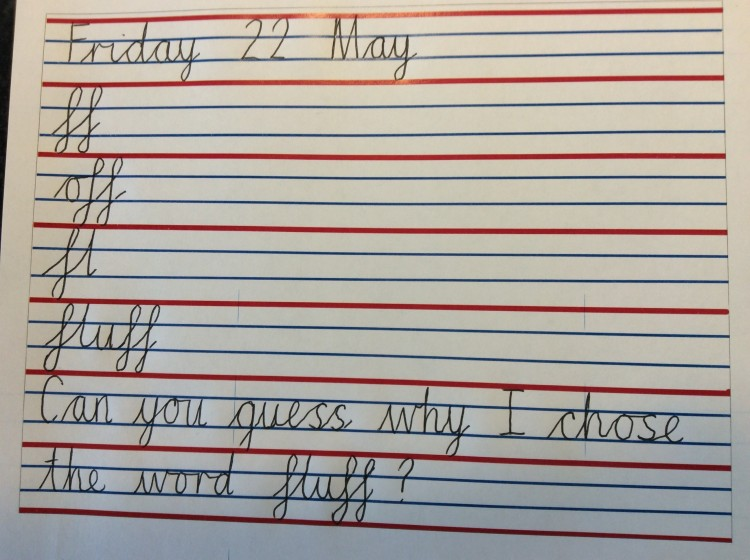 handwriting 21 may